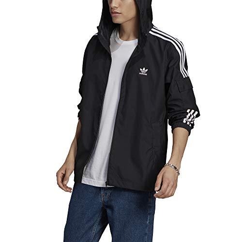 adidas Originals Chaqueta cortavientos para hombre Adicolor Classics 3-Stripes Negra Talla XXLCod GN3475