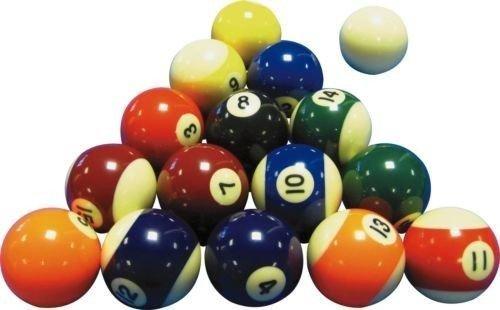 Juego de bolas de billar (5cm), diseño de rayas y lisas ⭐