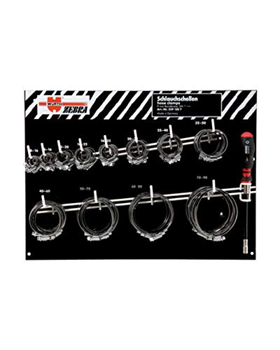 Set slangklemmen roestvrij staal 9 mm + schroevendraaier set 120 stuks 05391207 Wurth