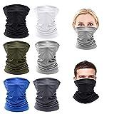 GESTAND 6 Stück Bandanas Multifunktionstuch Schlauchschal für Herren Damen Gesichtsmaske Atmungsaktiv Halstuch Ultradünn Kopftuch Schnelltrocknend Sturmmaske Staubschutz für Outdoor