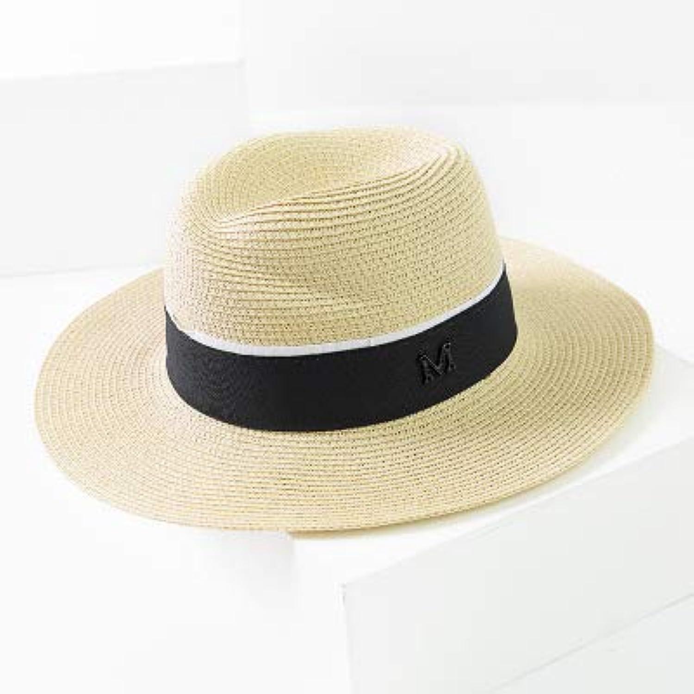 GUOMAOUP Hut Weiblicher Sommersonnenhut (Strohhutmdchendame-Feiertags-Panama-Hut Der Breiten Seite des Meters Breite Seite