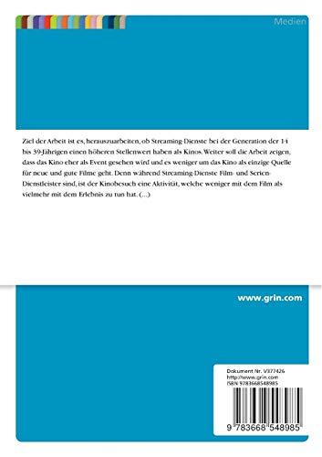 Die Zukunft des Kinos. Eine Analyse vor dem Hintergrund neuer Konkurrenz in Form von Eigenproduktionen der Streaming-Dienste - 2