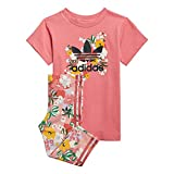 adidas GN2260 tee Dress Set Tracksuit Baby-Girls Top:Hazy Rose/Multicolor/Black Bottom:Trace Pink f17/multicolor/hazy Rose s21 3-4A