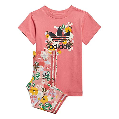 adidas GN2260 Tee Dress Set Tuta da Ginnastica Bimba 0-24 Top:Hazy Rose/Multicolor/Black Bottom:Trace Pink f17/multicolor/hazy Rose s21 3-4A