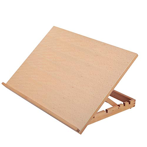 Falling in Art Large 5-Position Wood Drafting Table Easel Drawing and Sketching Board, 23 2/9 Inches by 16 1/2 Inches
