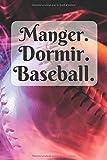 Manger dormir baseball: Carnet de notes 6x9, cahier ligné, journal (Thématique baseball)