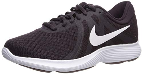 Nike Zapatillas de running Revolution 4 para mujer, rojo (Ceniza borgoña/blanco/ciruela eclipse), 42.5 EU