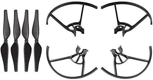 WEHOLY Spazzola per Attrezzi Domestici per Biciclette da Bicicletta 4 Pezzi Protezione per elica + 8 Pezzi Lame per Puntelli Sostituzione Rapida di Pezzi di Ricambio per Drone RC815 Moto Quotidiano