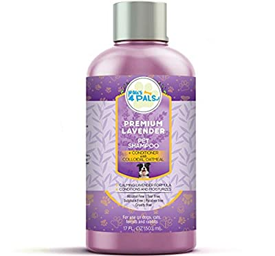 Premium Pet Lavender Oatmeal Shampoo + Conditioner For Dogs & Cats With Sensitive Skin 17 OZ