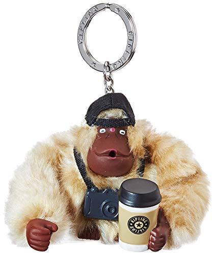 Kipling Damen Traveler Monkey Schlüsselanhänger, Silber (Silver Beige Core), 8.5x7x5 cm