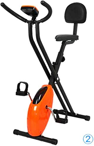 Bicicleta de ejercicio para el hogar Fitness plegable con pantalla LCD Resistencia a la velocidad Mute Smart Exercise Bike-con respaldo Uptodate