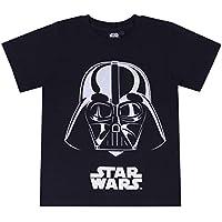 Camiseta Negra con un Estampado Plateado de Star Wars 7 años