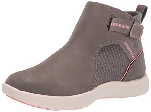 Clarks Women's Adella Cove Ankle Boot, Stone Textile, 7M
