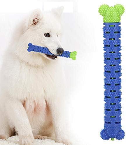 Reinigingsstick voor hondentanden multidirectionele siliconen blauwgroen 25 cm voor het verdrijven van slechte adem voor het reinigen van de mond
