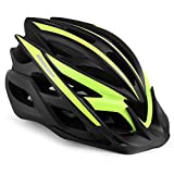 Shinmax Casco de Bicicleta, Casco de MTB con Visera Desmontable, montaña con luz de Advertencia...