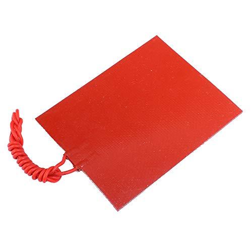 Pannello di gomma di silicone 25 W riscaldante piastra di temperatura costante 12 V 80 x 100 mm riscaldamento cuscino riscaldante in silicone