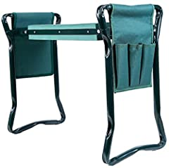 ✿ HAPPY KNEES: This handy garden kneeler features an elevated kneeling pad that reduces aches from prolonged kneeling, and keeps your knees away from the muddy ground and grass ✿ KNEELING PAD & GARDEN CHAIR: Flips over to become a garden chair so you...