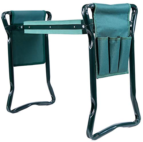 Ohuhu Garden Kneeler and Seat with 2 Tool Pouches, 2-in-1...