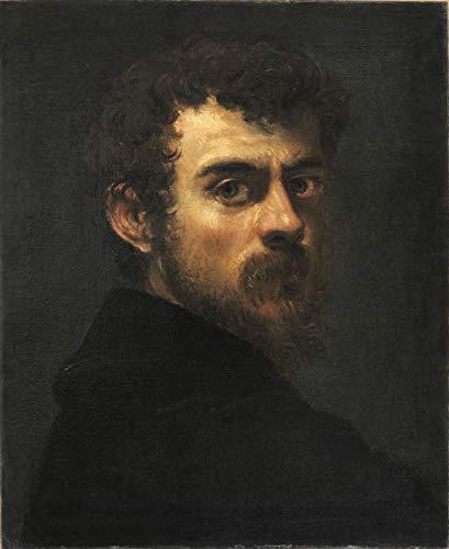 "Jacopo Tintoretto Self Portrait 1548 Philadelphia Museum of Art 24"" x 19"" Fine Art Giclee Canvas Print (Unframed) Reproduction"