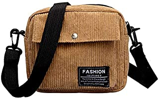 Docooler Fashion Women Corduroy Shoulder Bag Square Single Shoulder Messenger Bag Phone Small Crossbody Bags
