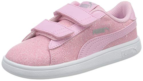 PUMA Smash v2 Glitz Glam V Inf, Sneaker Bambina, Rosa (Pale Pink-Pale Pink), 23 EU