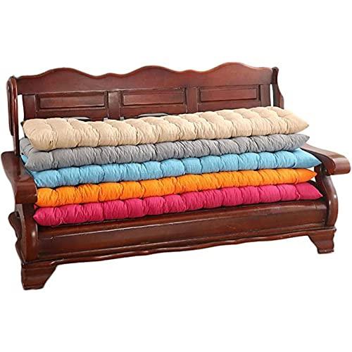 Cuscino spesso per panca da giardino e seduta, comodo cuscino per sdraio con cravatte, per spiaggia, patio, giardino, campeggio all'aperto (L,48 x 160 cm)