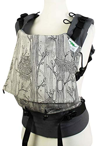 Buzzidil Nightwatch - Portabebés para recién nacidos y mayoristas de 0 a 48 meses, portabebés, espalda y asiento de cadera, portabebés con cierre sin ataduras Talla:Standard