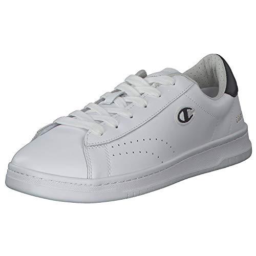 Champion Herren Low Cut Court Club Patch Sportschuhe Laufschuhe Freizeitschuhe Weiß versch. Größen S21363-WW006 Weiß (White) 45 EU