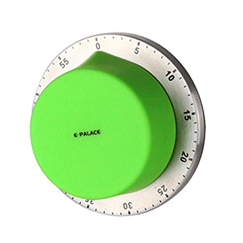 XGao Best Digital Kitchen Timer,Rotating Digital Cooking Timers Battery-Free with Strong Magnet Back,Loud Alarm,Auto Shut-Off for Cooking Baking,Time Reminder for Student Sports Games Office (Green)