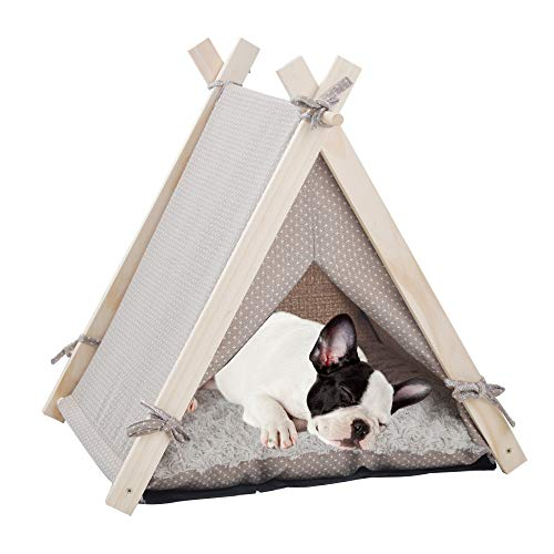 Dporticus Pet Tent Dogs House Teepee...