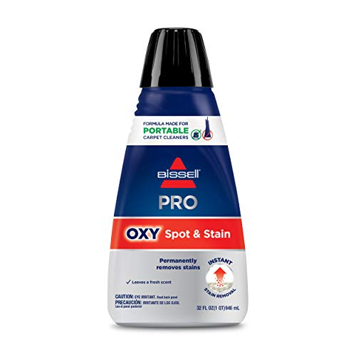 Bissell Professional Spot and Stain + Oxy Portable Machine Formula, 32 oz, 32 Fl Oz
