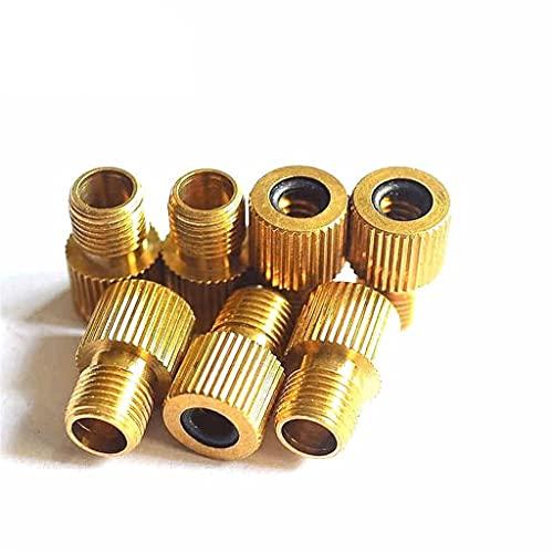 Adaptador De Válvula De Bicicleta Válvula de bicicleta Compatible con Presta a compatible con Schrader Valve Adaptador de válvula de cobre Válvula de aire Válvula de aire Boquilla de gas Convertidor A