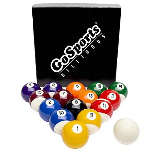 GoSports Regulation Billiards Balls - Complete Set of 16 Professional Balls, Multi