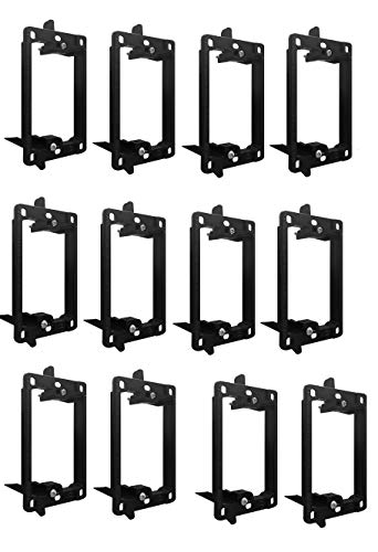 BestMounts -Low Voltage Mounting Bracket 1 Gang Multipurpose Drywall Mounting Wall Plate Bracket – (Single Gang, 12 Pack)