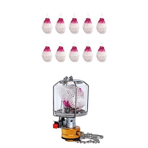 Gas Lantern Tent Propane Fuel Lamp Picnic Hanging Light with 10 Mantle Hard Case