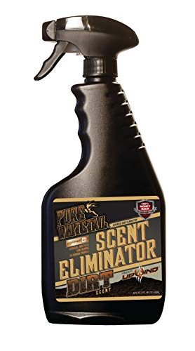 Pure Whitetail Scent Eliminator Spray - Dirt - 22oz - Deodorizes, Eliminates, Destroys and Kills Unwanted Odors While Providing Dirt Cover Scent