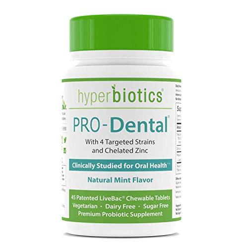 PRO-Dental: Probiotics for Oral & Dental Health—Freshens Breath at Its Source—Top Oral Probiotic Strains Including S. salivarius BLIS K12 & BLIS M18—Sugar Free (Chewable)—45 Day Supply