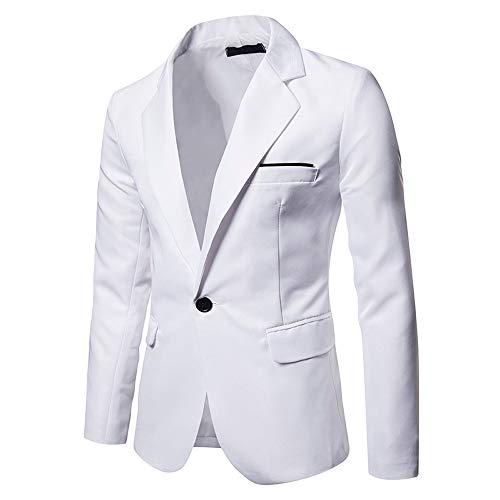 Longra Blazer Giacca Uomo Slim Fit Elegante Formale Casual Vestito di Affari Cappotto Giacca One Button Blazers Top Outwear Giacca da Abito Maniche Lunghe