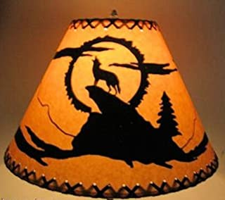 16 Inch Coyote Rustic Lamp Shade.....Click on Photos to View Sizing and Style Options!