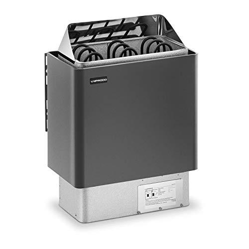Uniprodo UNI_SAUNA_G4.5KW Saunaofen 4,5 kW 30 bis 110 °C Überhitzungsschutz Thermostat