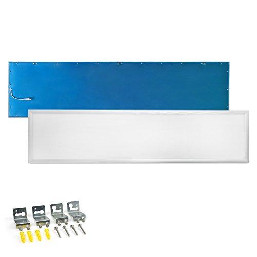 LED Panel Deckenleuchte 120x30cm Neutralweiss 4000K Ultraslim 40W inkl. Trafo und Befestigungsmaterial für Büroräume, Flure, Küche, Badezimmer, Keller, Verkaufsräume