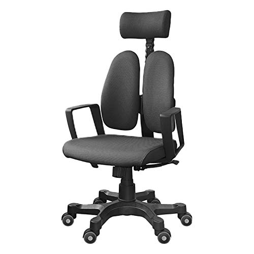 DUOREST(デュオレスト) オフィスチェア ヘッドレスト付き DR-6500(DBK) ブラック