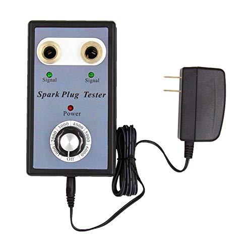 Yunt Probador de la bujía, analizador Dual de la ignición del Detector del probador de la bujía del Coche del Agujero, bujías del vehículo de la Gasolina 12V