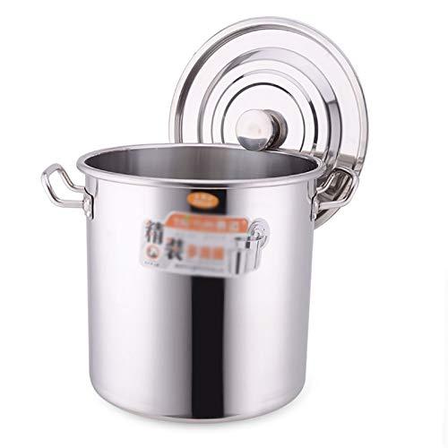 Utensilios de cocina al vapor Pottiquí, Catering Commercial Fleed 304 Sopa de acero inoxidable con tapa para estufa de gas/Cocina de inducción (20-210L) Charola para hornear (Size : 120L)