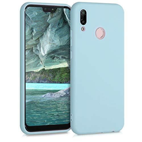 kwmobile Cover Compatibile con Huawei P20 Lite - Cover Custodia in Silicone TPU - Backcover Protezione Posteriore - Blu Chiaro Matt