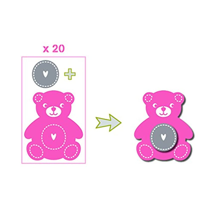 Toga fpd79?Birth Die Cut Shapes, Pink/Green (Pack of 20?15.5?x 8.5?x 1?cm