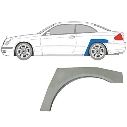 CLK W209 Coupe 2002-2009 Panel de reparación del arco de la rueda trasera/izquierda