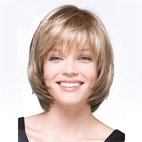 Zubehör Pflege Haarteile PerückenKurzes Haar Perücke Blond Ombre Bob HaarFür Frauen Flauschige Gerade Kurze Perücke SynthetischeHitzebeständigeCosplay Perücke 13 Zoll