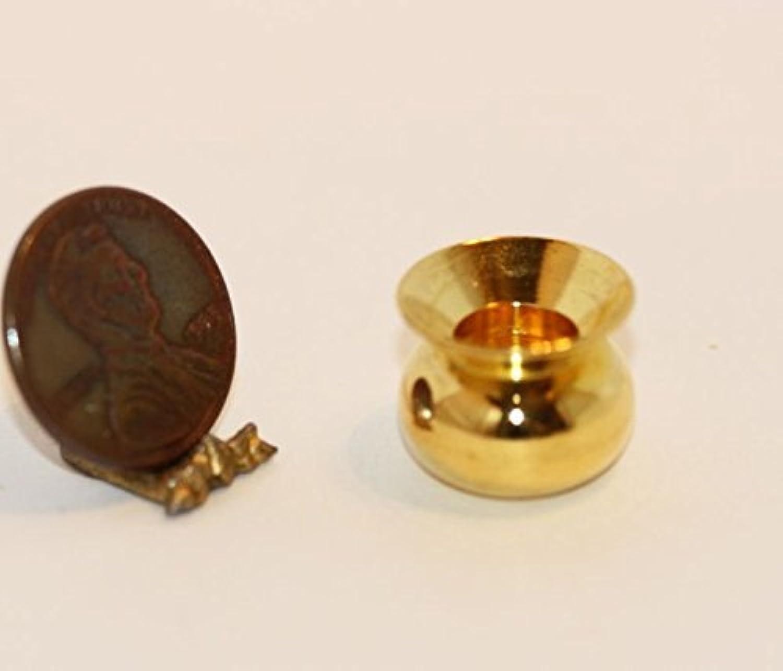 Dollhouse Miniature Brass Spittoon by International Miniatures by International Miniatures