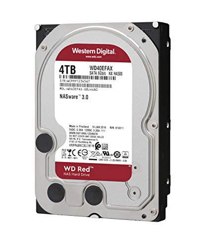 WD Red 4TB Disco Duro Interno NAS 3.5' - 5400 RPM, SATA 6 GB/s,...